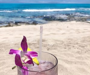 beach, cocktail, and drink image