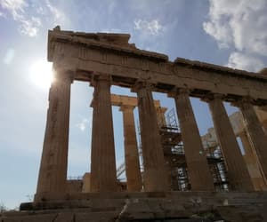 acropolis, travel, and ancient greece image