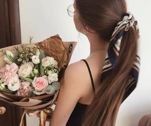 bouquet, brunette, and fashion image