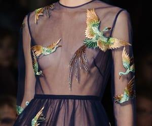 fashion, dress, and bird image