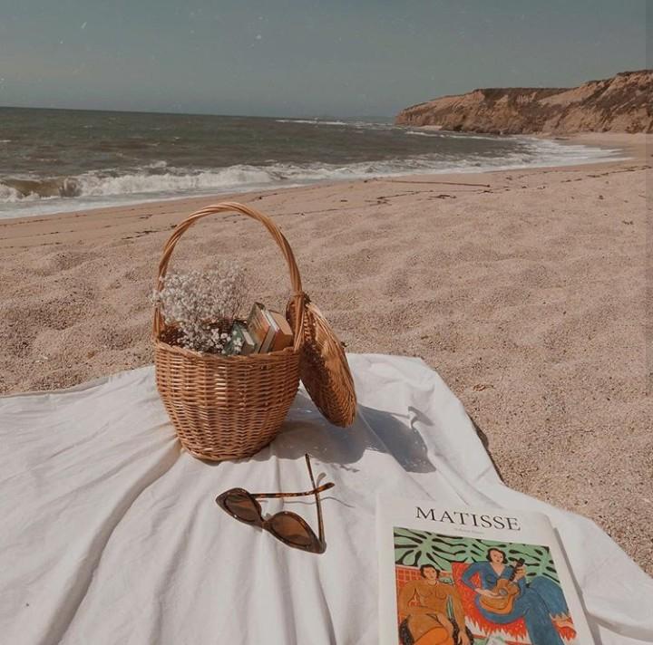 beach, picnic, and basket image