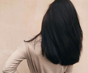 black, straight, and hair image