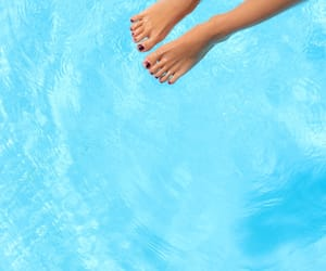 bare feet, blue, and simple image