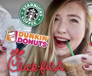 challenge, youtube, and dunkin' donuts image