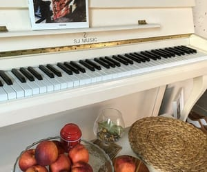 fruit, piano, and music image