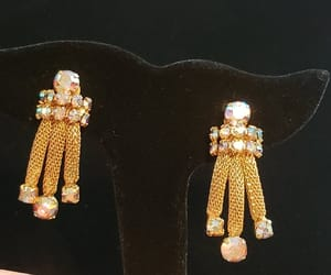 etsy, vintage jewelry, and wedding earrings image