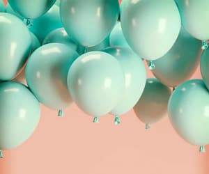 background, balloons, and pink image