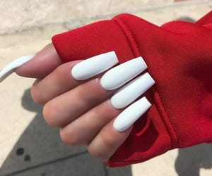 acrylic, nails, and beauty image