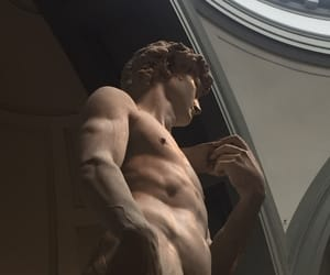 david, marble, and michelangelo image