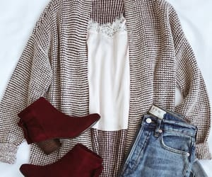 outfit, cardigan, and fashion image