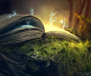 book, magic, and fairy image