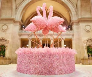 flamingo, rose, and met gala image