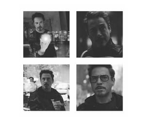 Avengers, black and white, and iron man image