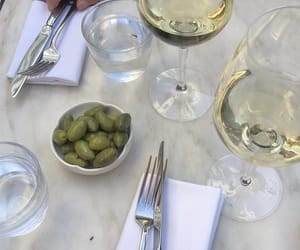 wine, drink, and olives image
