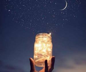 light, moon, and photography image
