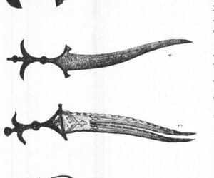 dagger, greyscale, and weapon image
