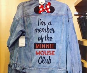 denim, disney, and minnie mouse image