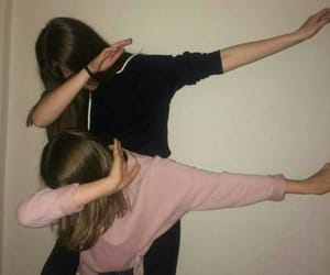girl, friendship, and dab image