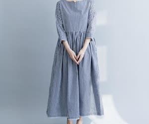 blue dress, large size dress, and malieb image