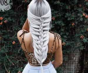 hair, braids, and white hair image