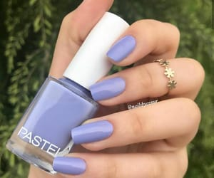blue, blue nails, and girls image
