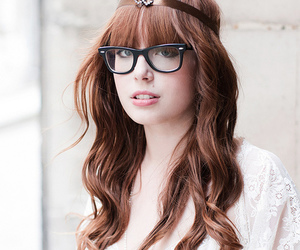 art, spectacles, and girl image