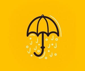 illustration, typography, and yellow image