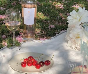 picnic, aesthetic, and cherry image