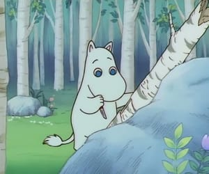 anime, moomintroll, and snufkin image