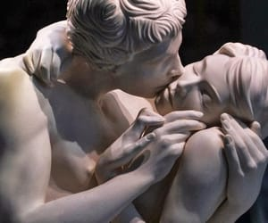 art, kiss, and statue image
