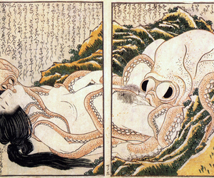 illustration, oral, and japan image