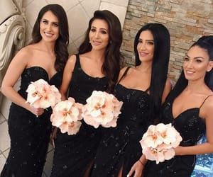 black, godmother's dress, and dresses image