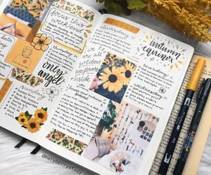 bullet journal, yellow, and bujo image