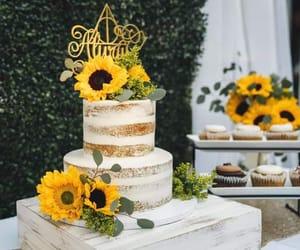 cake, wedding, and naked cake image