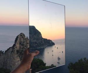 sea, sky, and mirror image