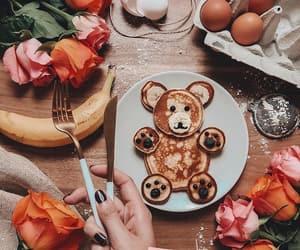 flowers, food, and pancake image
