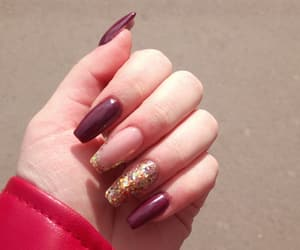autumn, brown, and nails image