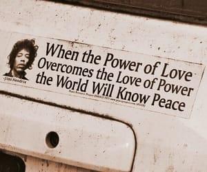 Jimi Hendrix, peace, and love image