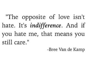 indifference and love image