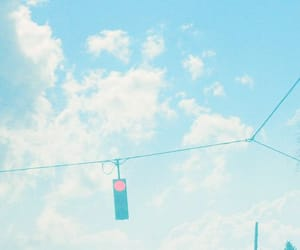 aesthetic, blue, and traffic light image
