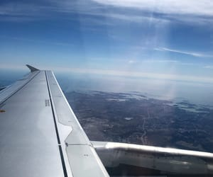 air, finnair, and traveling image