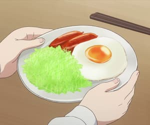 anime, breakfast, and anime food image