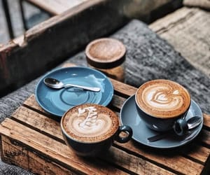 cafe, cappuccino, and coffee image