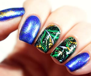 blue, nail art, and notd image