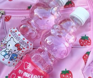 pink, cute, and hello kitty image