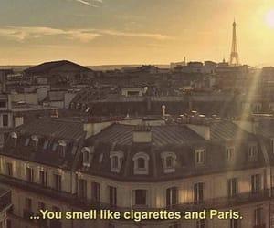quotes, paris, and cigarette image