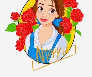 art, disney, and flowers image
