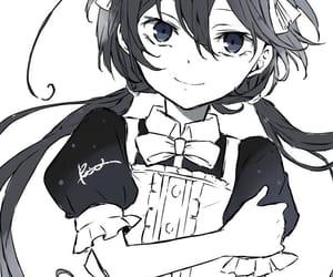 anime girl, maid, and bungou stray dogs image