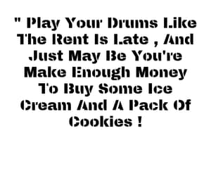 Cookies, drums, and play image