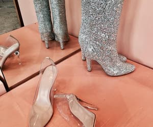 boots, heels, and peach image